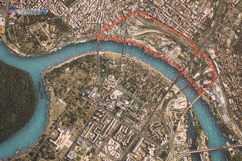 Карта застройки «Белграда на воде»