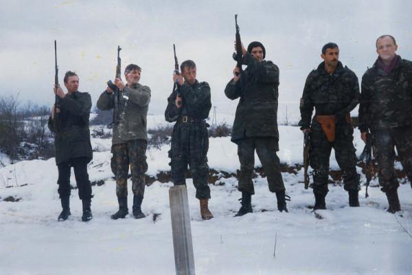 Похороны погибшего русского добровольца  «3-го русского добровольческого отряда» Анатолия Астапенкова, погибшего в бою в районе Златиште под Сараево 24-го января 1994 года