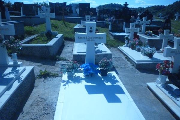 Могила русского добровольца Валерия Быкова на военном кладбище в селе Дони Милевичи под Сараево