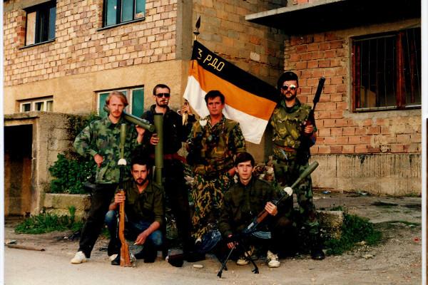 Русские добровольцы из «интервентного» взвода противотанковой роты 3-го пехотного батальона в Сараево в июне 1994 года