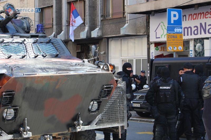 Бойцы антитеррористического подразделения Сербии в Белграде