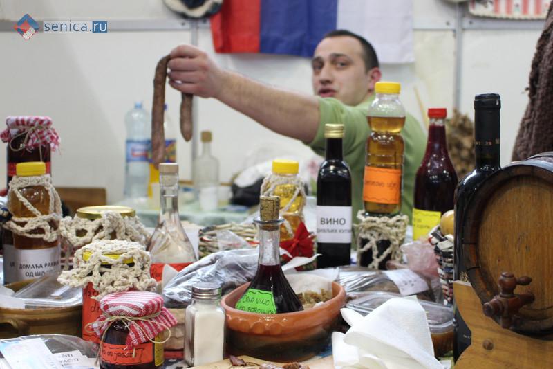 Сербские продукты на прилавке