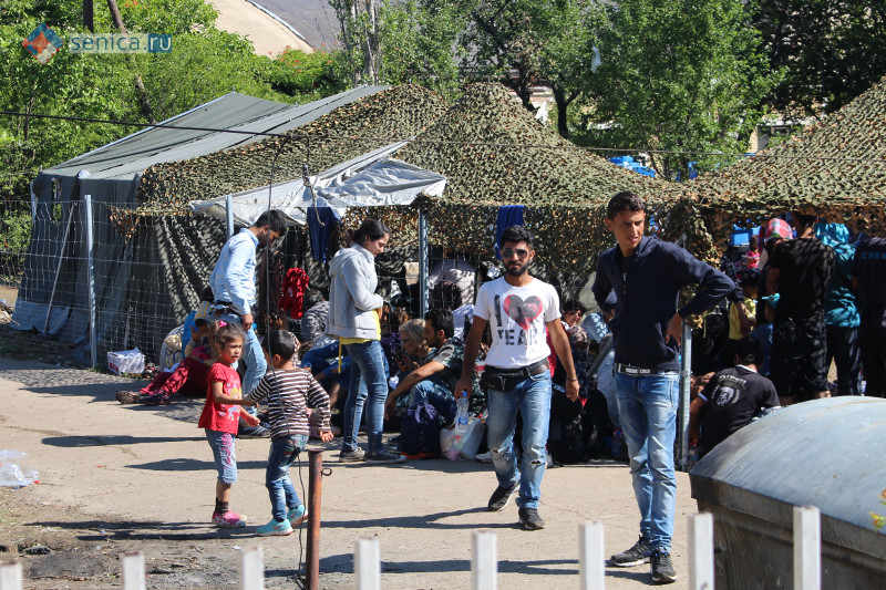 Беженцы в лагере