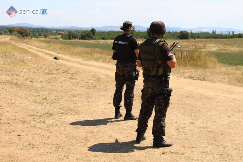 Сербские жандармы на охране границы