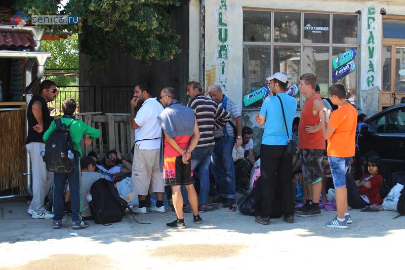 Мигранты на южной границе Сербии в Прешево