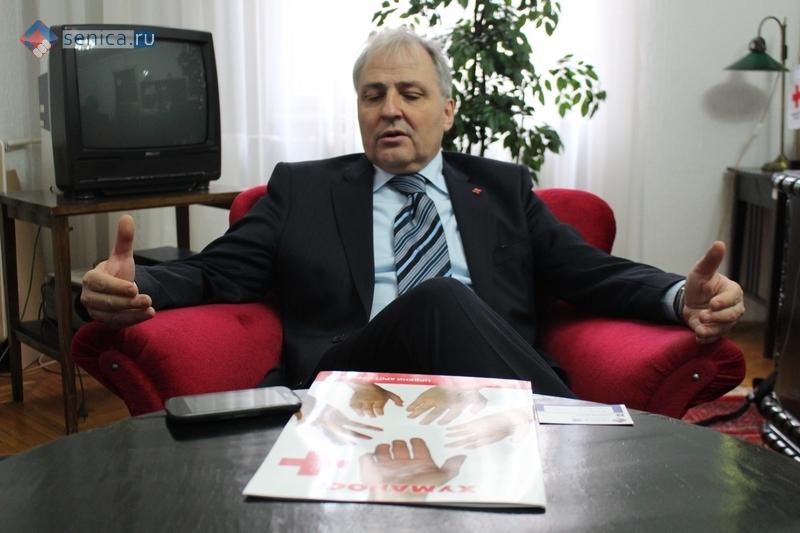 Драган Радованович, председатель Красного креста Сербии
