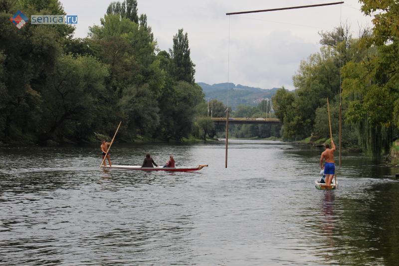 Плавание по реке Врбас на даяках