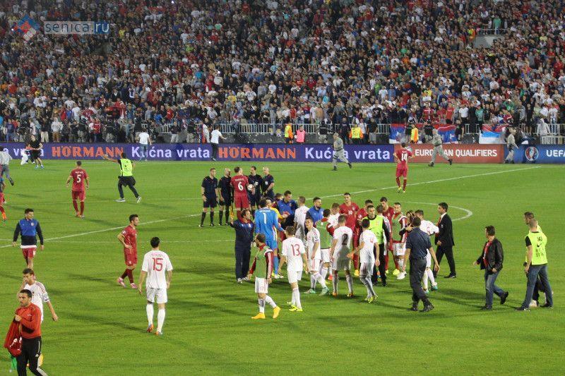 Матч Сербия - Албания в Белграде сорван