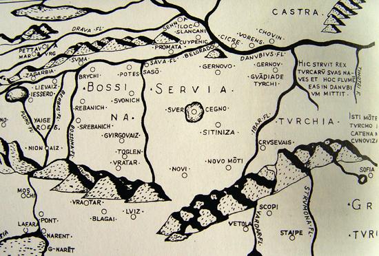 Сербия на римских картах