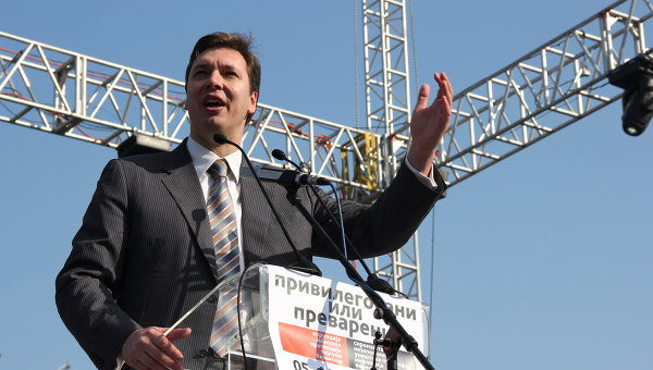 Вице-премьер Сербии Александр Вучич