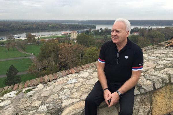 Анатолий Лисицын в крепости Калемегдан в Белграде