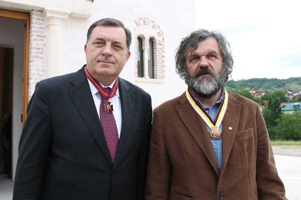 Президент Республики Сербской Милорад Додик и кинорежиссёр Эмир Кустурица
