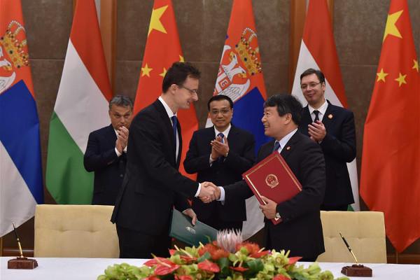 Подписание договора о строительстве высокоскоростной железной дороги Будапешт-Белград