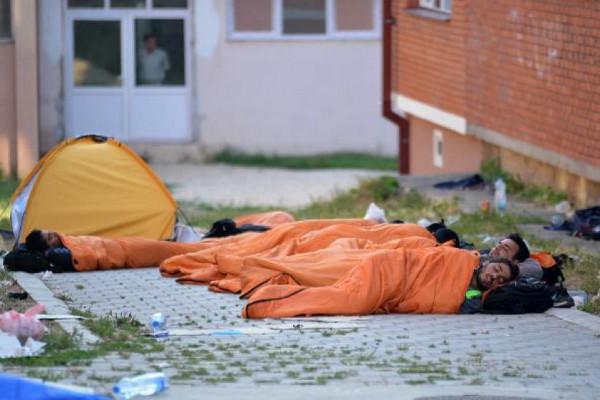 Беженцы отдыхают