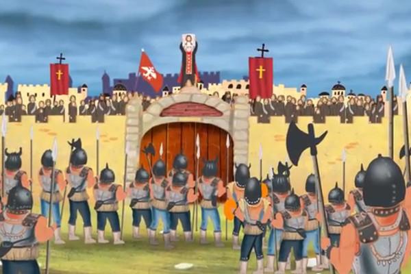 Первый сербский православный мультфильм «Нерукотворный лик Господа Иисуса Христа»