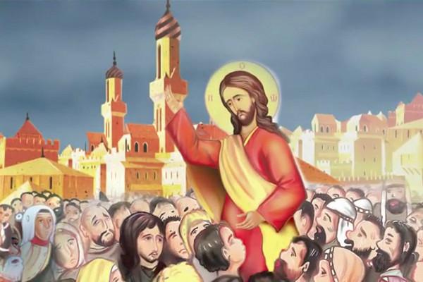 Кадр из сербского мультика «Нерукотворени лик Господа Исуса Христа»