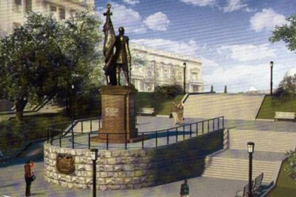Эскиз памятника Николаю II в Белграде