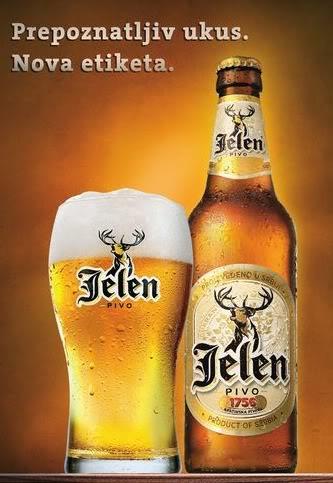 Сербское пиво Jелен, Jelen