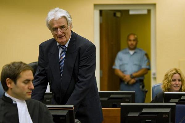 Радован Караджич на суде в Гааге
