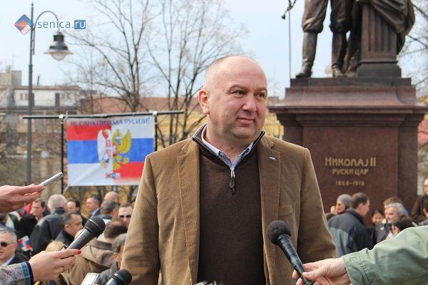 Ненад Попович на митинге в поддержку России
